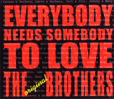 cd single cover of everybody needs somebody to love performed by the original brothers